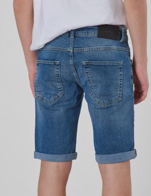 Grunt - Space Medium Ripped Blue Shorts