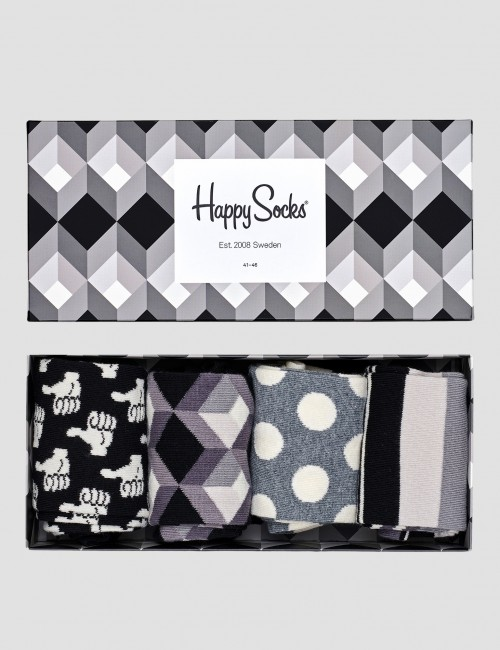 Happy Socks - Black And White Gift Box