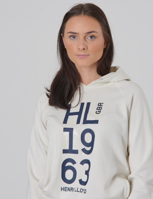 Henri Lloyd barnkläder - OH Embossed LB Logo Hoodie with Pockets