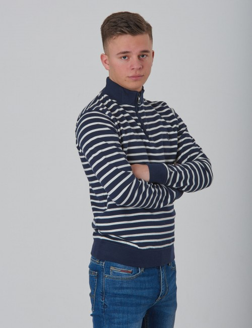 Henri Lloyd barnkläder - LB Engineered Stripe Quarter Zip Through