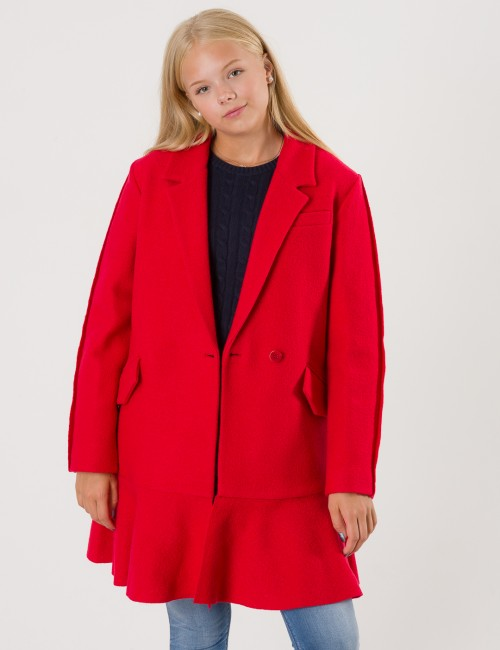 DESIGNERS, REMIX GIRLS - Edith Ruffle Coat