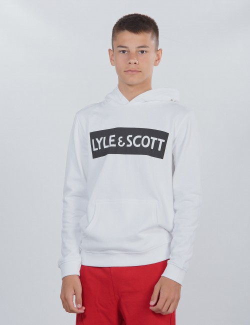 Lyle & Scott barnkläder - Block Logo OTH Hoody Fleece