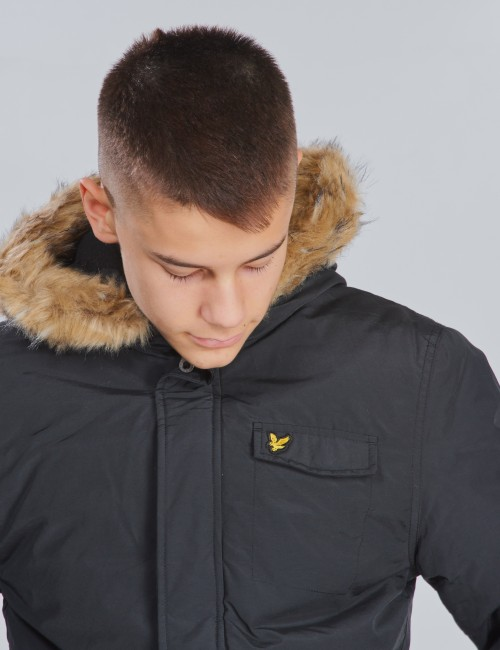 Lyle & Scott barnkläder - Winter Weight Micro Fleece Lined Parka