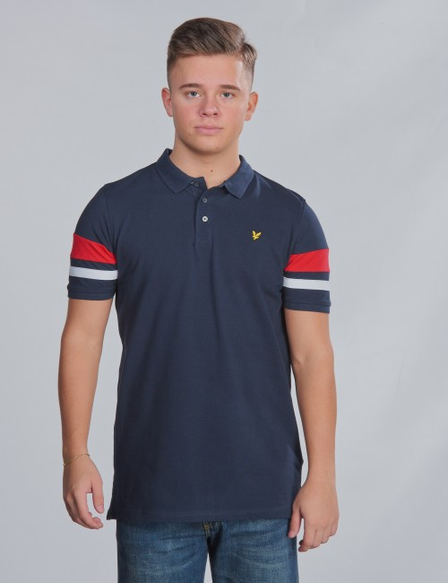 Contrast Band Polo Shirt