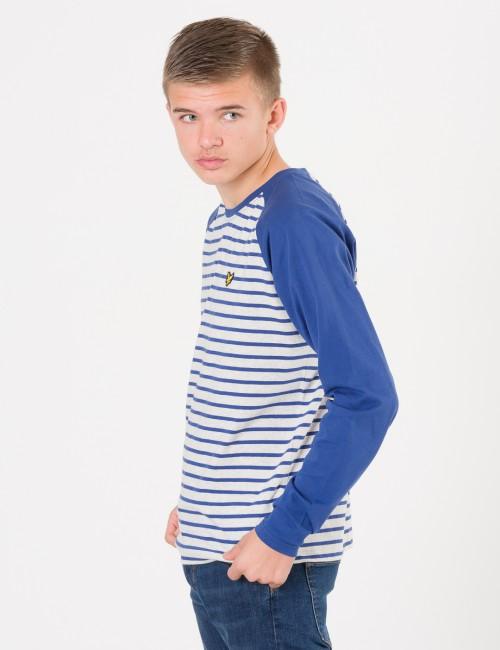 Lyle & Scott barnkläder - LS Baseball Breton T-Shirt