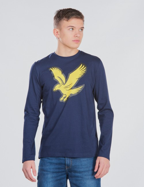 Lyle & Scott barnkläder - L/S Eagle Logo T-Shirt