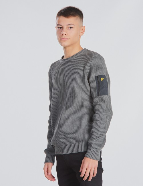 Lyle & Scott barnkläder - Ribbed Knitted Jumper 7GG
