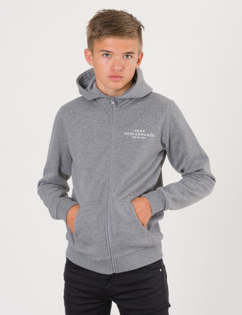 Peak Performance barnkläder - JR LOGO ZIP HOODIE