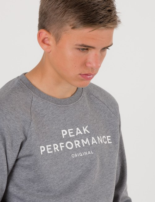 Peak Performance barnkläder - JR LOGO CREWNECK