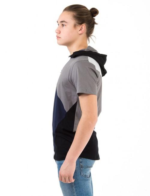 Perrelli Street Wear - Ganton SS hood Tee