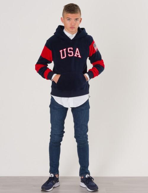 Ralph Lauren barnkläder - FLEECE POLO HOODIE