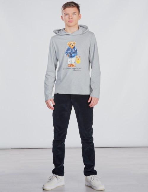Ralph Lauren barnkläder - LONG SLEEVE HOOD TEE
