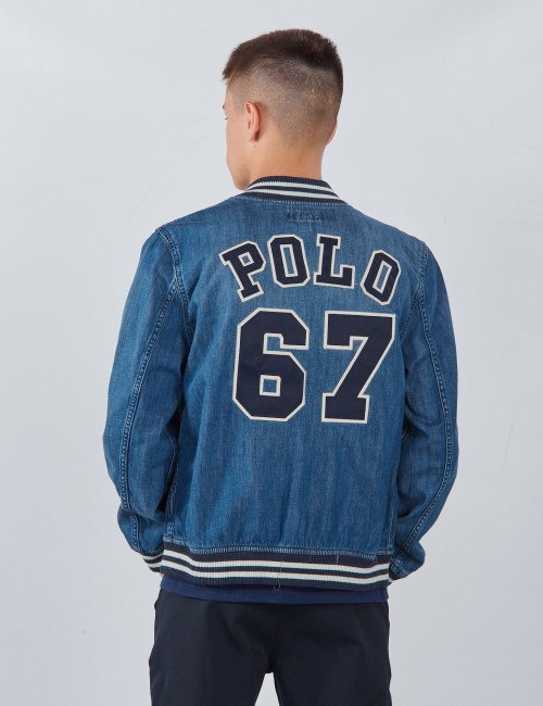 Ralph Lauren - BBALL JACKET-OUTERWEAR-DENIM