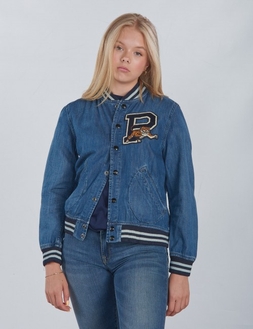 BBALL JACKET-OUTERWEAR-DENIM