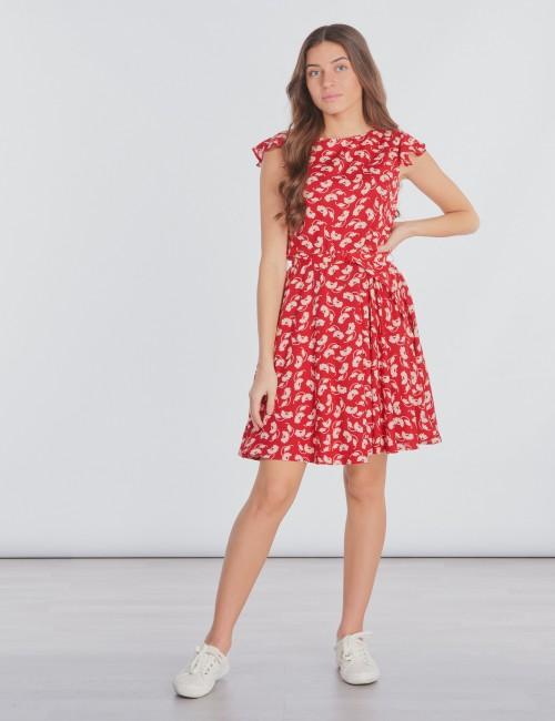 Ralph Lauren - FLUTTER SLV-DRESSES-WOVEN