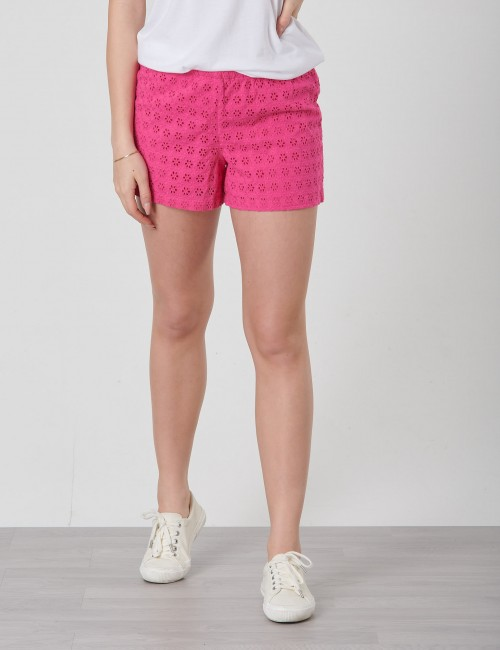 EYELET SHORT-BOTTOMS-SHORT