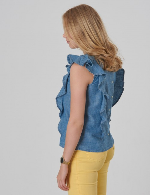 Ralph Lauren - CHAMBRAY TOP-TOPS-SHIRT