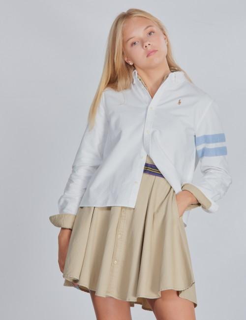 Ralph Lauren barnkläder - CROP OXFORD-TOPS-SHIRT