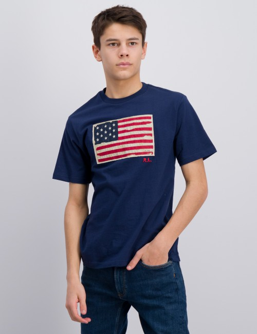 Ralph Lauren - SHORT SLEEVE FLAG T-SHIRT
