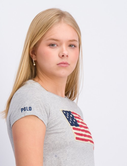 Ralph Lauren - SS FLAG TEE-TOPS-KNIT