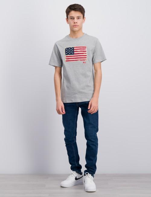 Ralph Lauren barnkläder - Flag Cotton Jersey T-Shirt