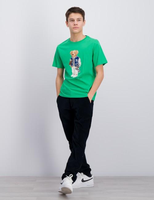 Ralph Lauren barnkläder - Football Bear Cotton Tee