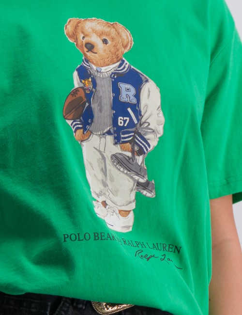 Ralph Lauren - Football Bear Cotton Tee
