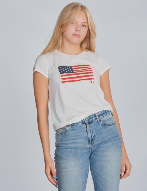 Ralph Lauren - SS FLAG TEE