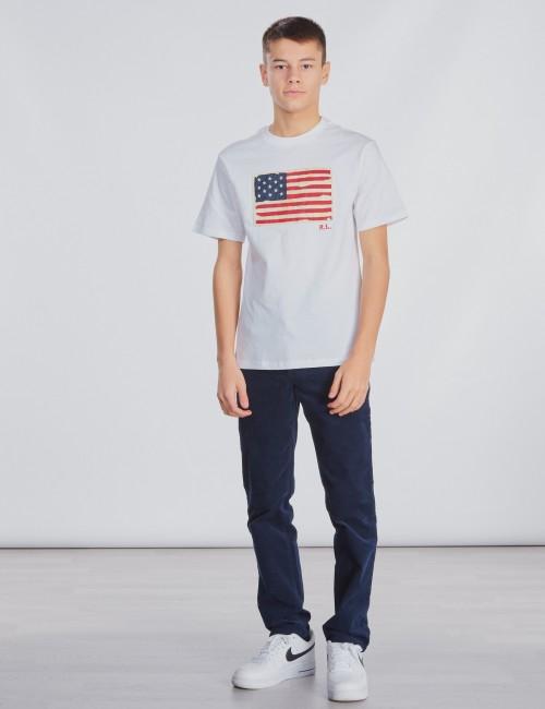 Ralph Lauren barnkläder - SHORT SLEEVE FLAG T-SHIRT