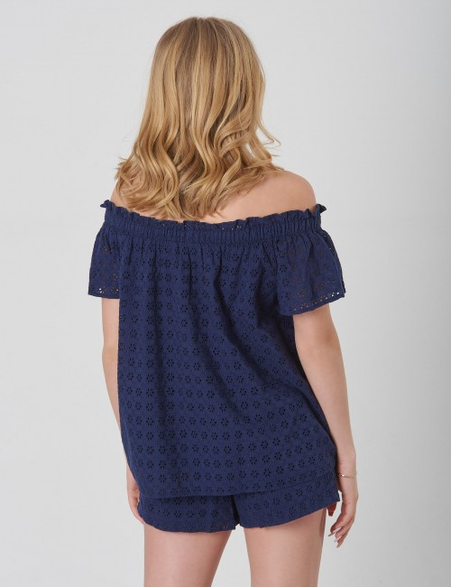 Ralph Lauren - EYELET TOP-TOPS-SHIRT