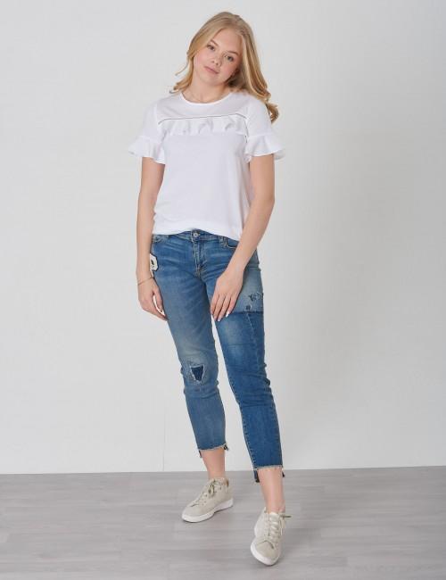 Ralph Lauren barnkläder - RUFFLE YOKE-TOPS-KNIT