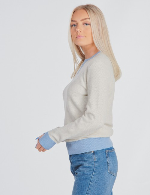 Ralph Lauren - LONG SLEEVE TEXTURED-TOPS-SWEATER
