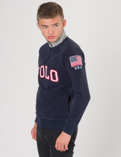 Ralph Lauren barnkläder - HALF ZIP SWEAT