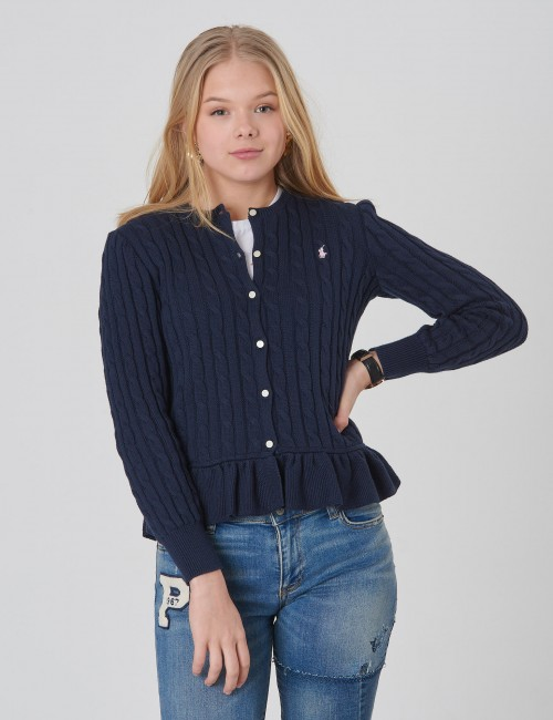Ralph Lauren - PEPLUM CARDI-TOPS-SWEATER