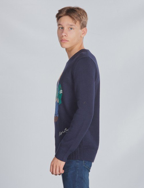 Ralph Lauren barnkläder - LS CN BEAR-TOPS-SWEATER