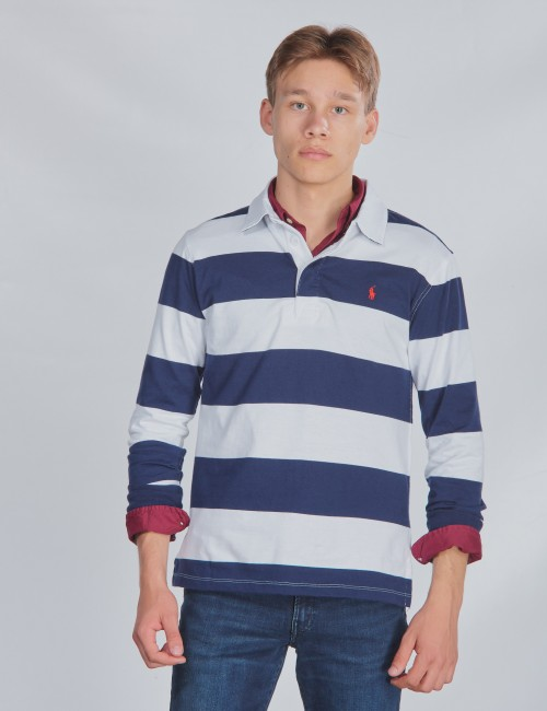 LS RUGBY-TOPS-KNIT