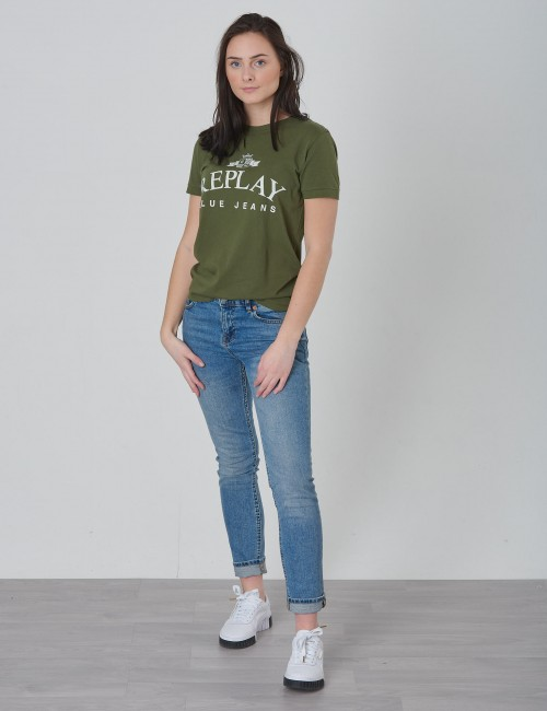 2dfdca4c4667 Om Tshirt - Vit från Replay | KidsBrandStore