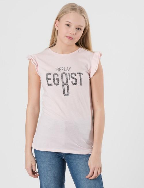 fa28577ff06b Om T-Shirt - Rosa från Replay | KidsBrandStore