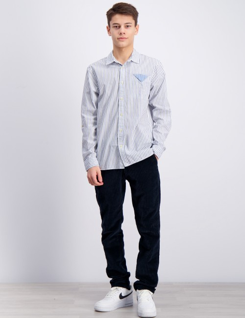 Scotch & Soda barnkläder - Blue series long sleeve shirt
