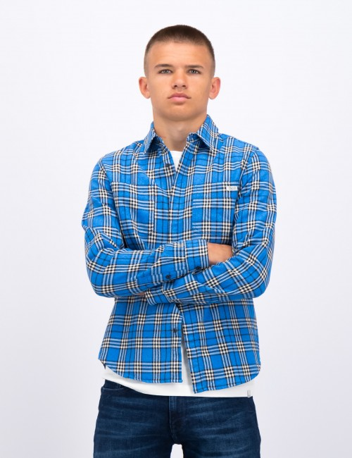 Scotch & Soda barnkläder - Longsleeve flannel CNeck shirt