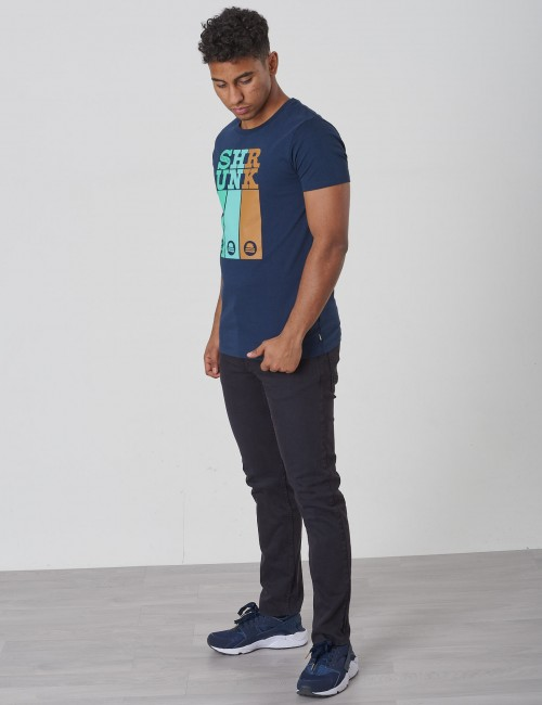 Scotch & Soda - Tee with colourful logos artworks