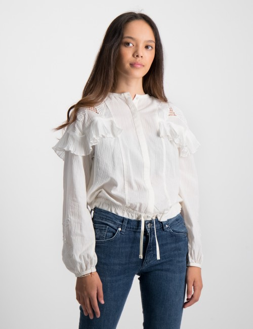 Loose shirt with lace and sport detailing