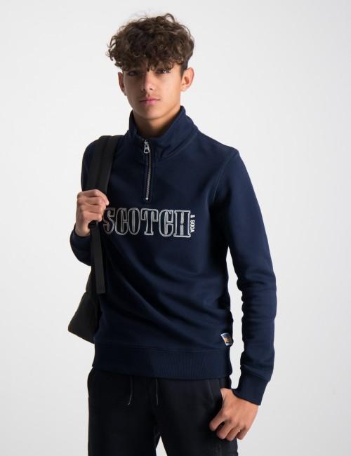 Scotch & Soda barnkläder - Half-zip sweat with artwork
