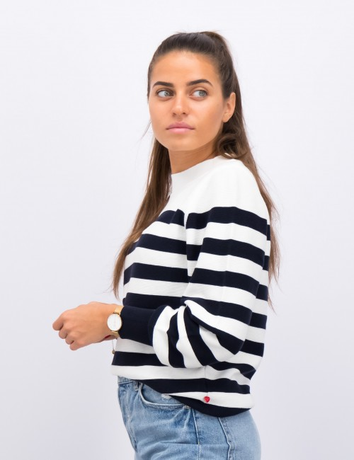 Scotch & Soda - Loose fit pull in special  breton knit