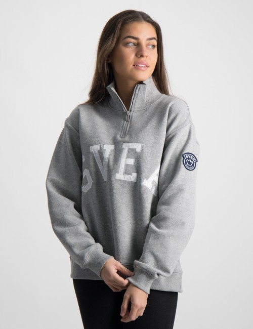 Half Zip Logo Sweat