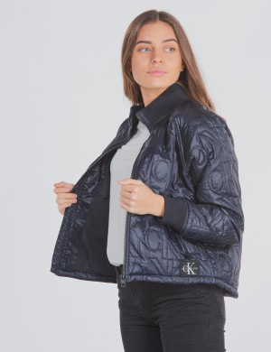 MONOGRAM QUILTED BOMBER JACKET