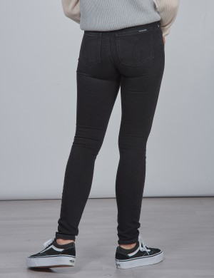 SKINNY HR WORN BLACK STR