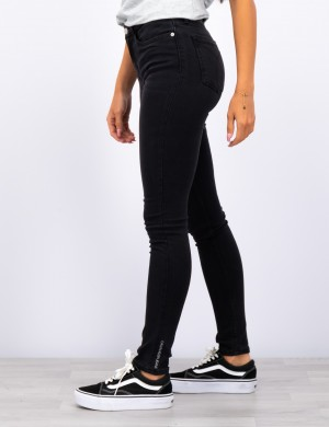 SKINNY HR CHALK  BLACK STRETCH