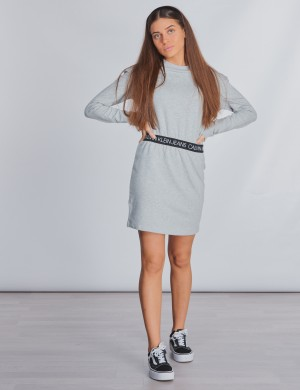 LOGO WAISTBAND DRESS