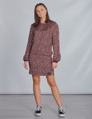 VARSITY FLOWER LS DRESS